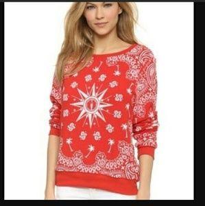 Wildfox Bandana Print Jumper/Sweatshirt